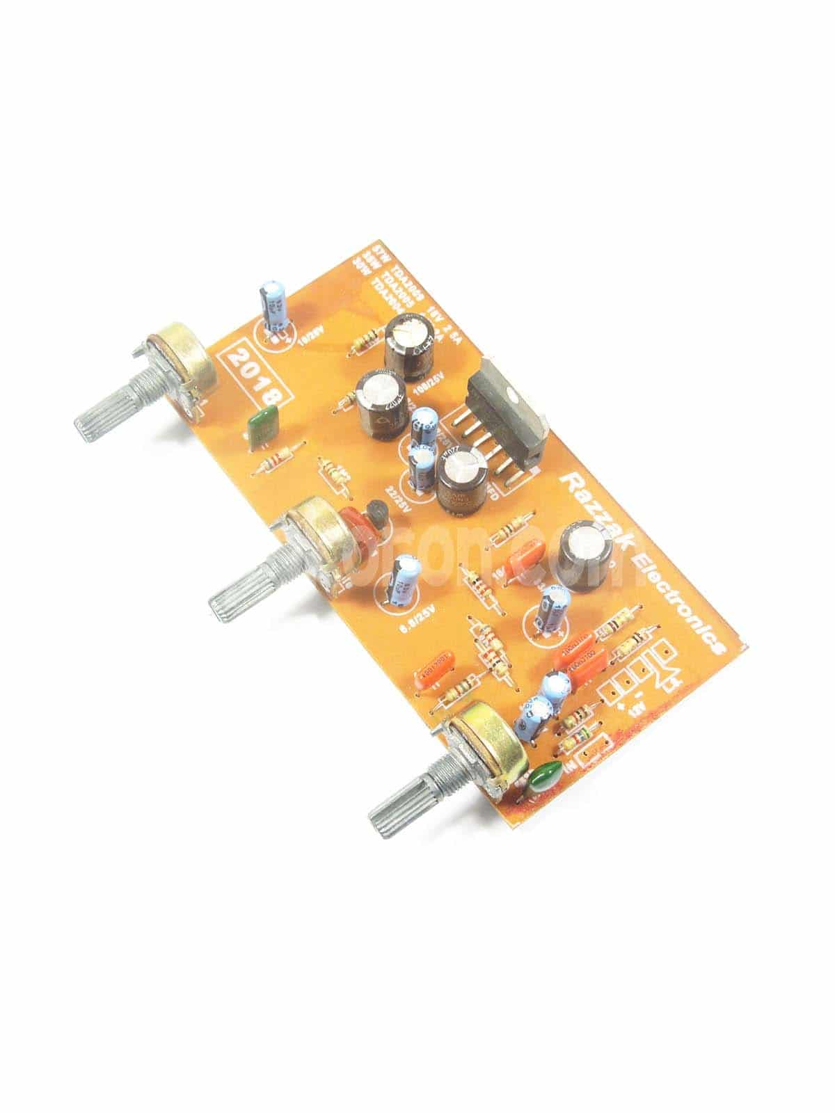 Mini Stereo Amplifier Circuit Using Tda2009a