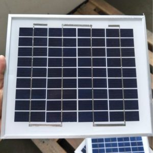 5W Poly Solar Panel Module With 36 Cells 17-21V DC Square Size 9.5×9.5 Inch