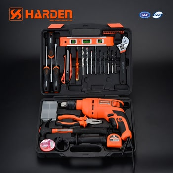 36Pcs Multi-Functional Electric Impact Drill Tool Set with Blow Case