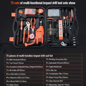 Hand Tool 75Pcs Multi-Functional Professional Impact Drill S