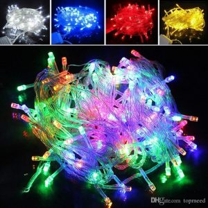Christmas Decor Party Holiday String Flame Lamp Multi-Color LED 100-220VAC