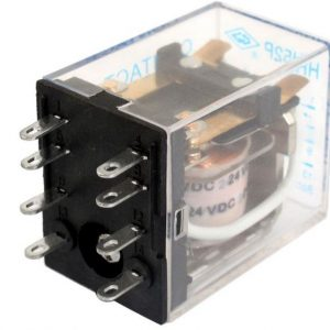 Electromagnetic Relay, 8-pin DPDT,-24V/10a (GOOD QUALITY)