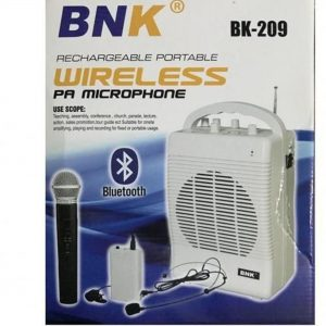 Bnk Portable P.A Megaphone Speaker System With Built-in USB SD Card Slot,Wireless Mics & Bluetooth