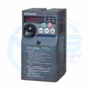 Mitsubishi Inverter Drive, 3-Phase In, 0.2 → 400Hz Out 1.5 kW, 230 V ac, 7 A, IP20 for use with FR-D720 Series