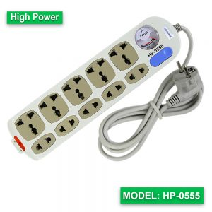 High Power multi extension socket HP-0555 (Cable-2M)