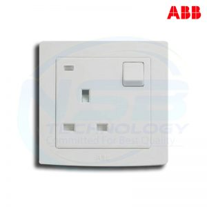 ABB Switched Universal Sockets outlet AC294 3Pin Round - (Original)