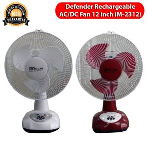 Defender Rechargeable AC/DC Fan 12 Inch (M-2312)