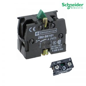 Schneider Selector Switch Modular Components Control Product ZB2BE102 1 NO Auxiliary Contact Block